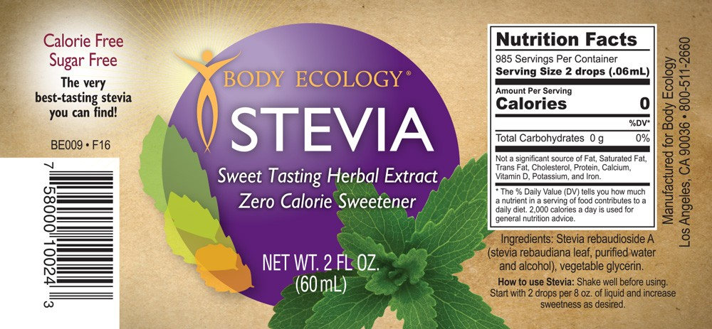 Stevia Nutrition Facts Label - Nutrition Ftempo