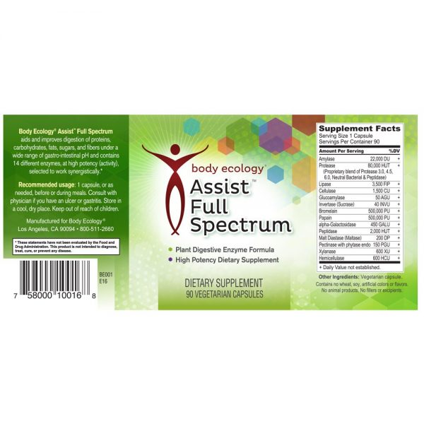 body ecology canada assist full spectrum label