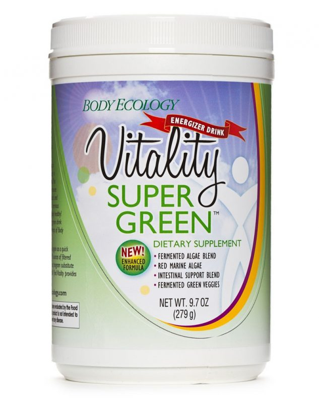 body ecology canada vitality supergreen powder – front