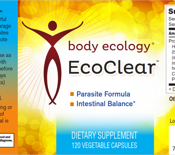 Body Ecology Canada EcoClear - Label