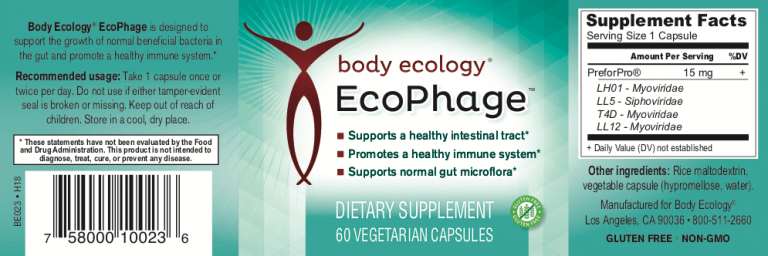 Body Ecology Canada Ecophage - Label